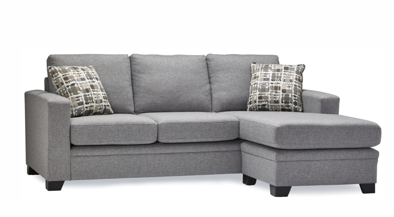 Grey sectional stylus sofa.