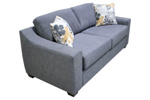 Elite Sofa Bed in grey color, closed.