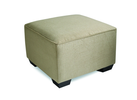 low beige square fabric chair