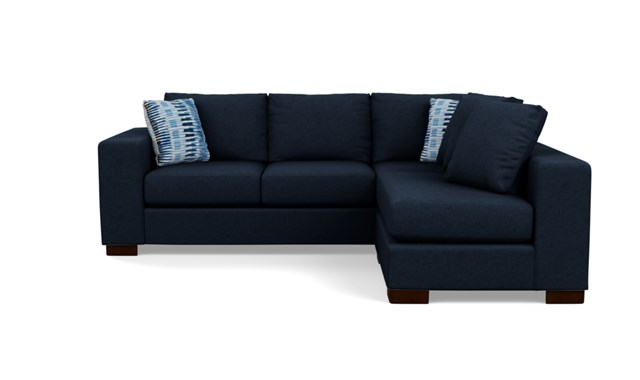 Dark Blue sectional Stylus Sofa.