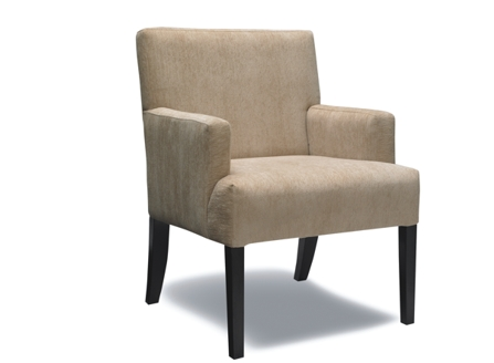 Beige cactus armchair with short arm and long wood stnad