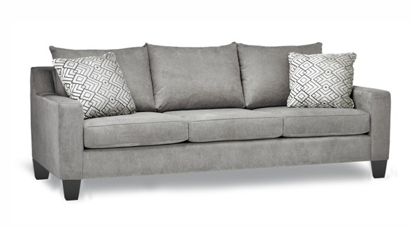 Grey Coba Stylus Sofa with black legs.