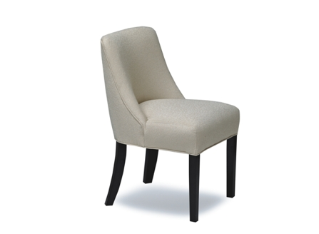 white round curved back dining chair made in BC