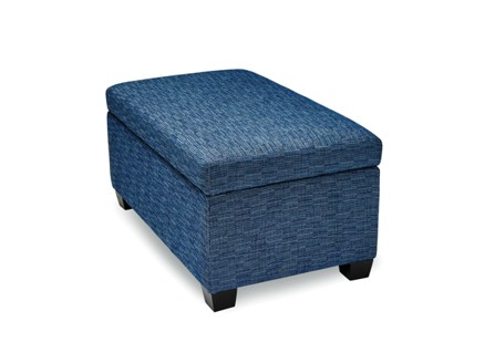 Blue Hyde sofa with storage space
