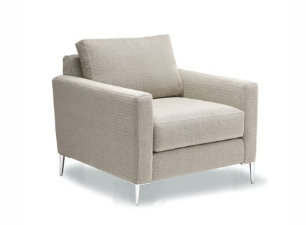 A big single kaya armchair sofa with white metal legs