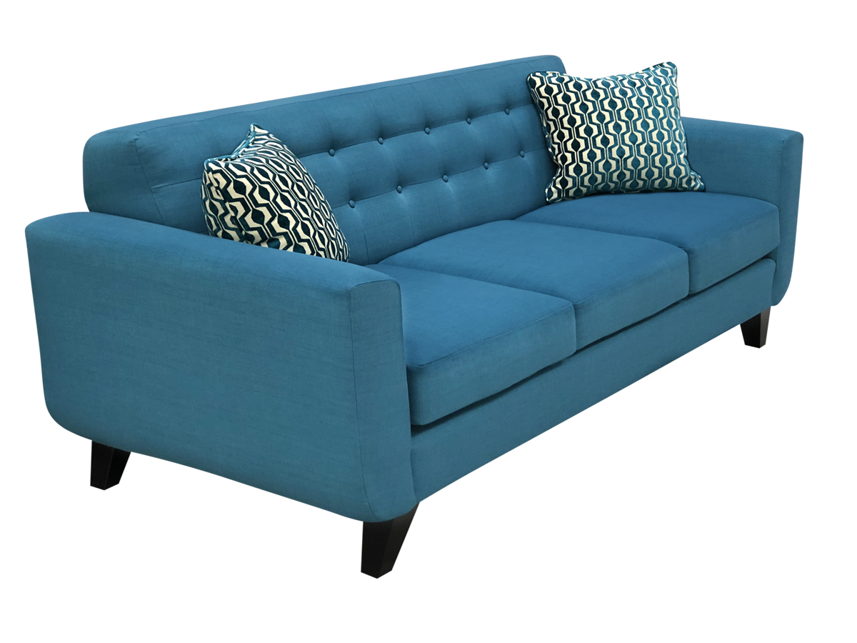 Blue Kitsilano Elite sofa in blue color.