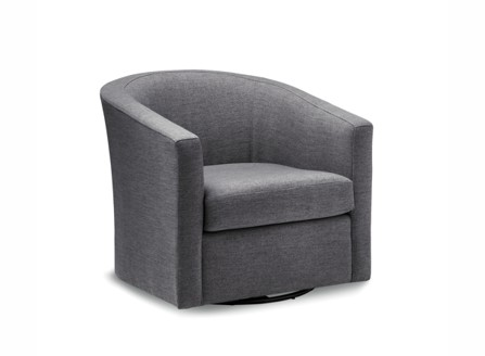 Leia dark grey fabric round angle sofa