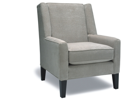 grey fabric modular link sofa with wood legs