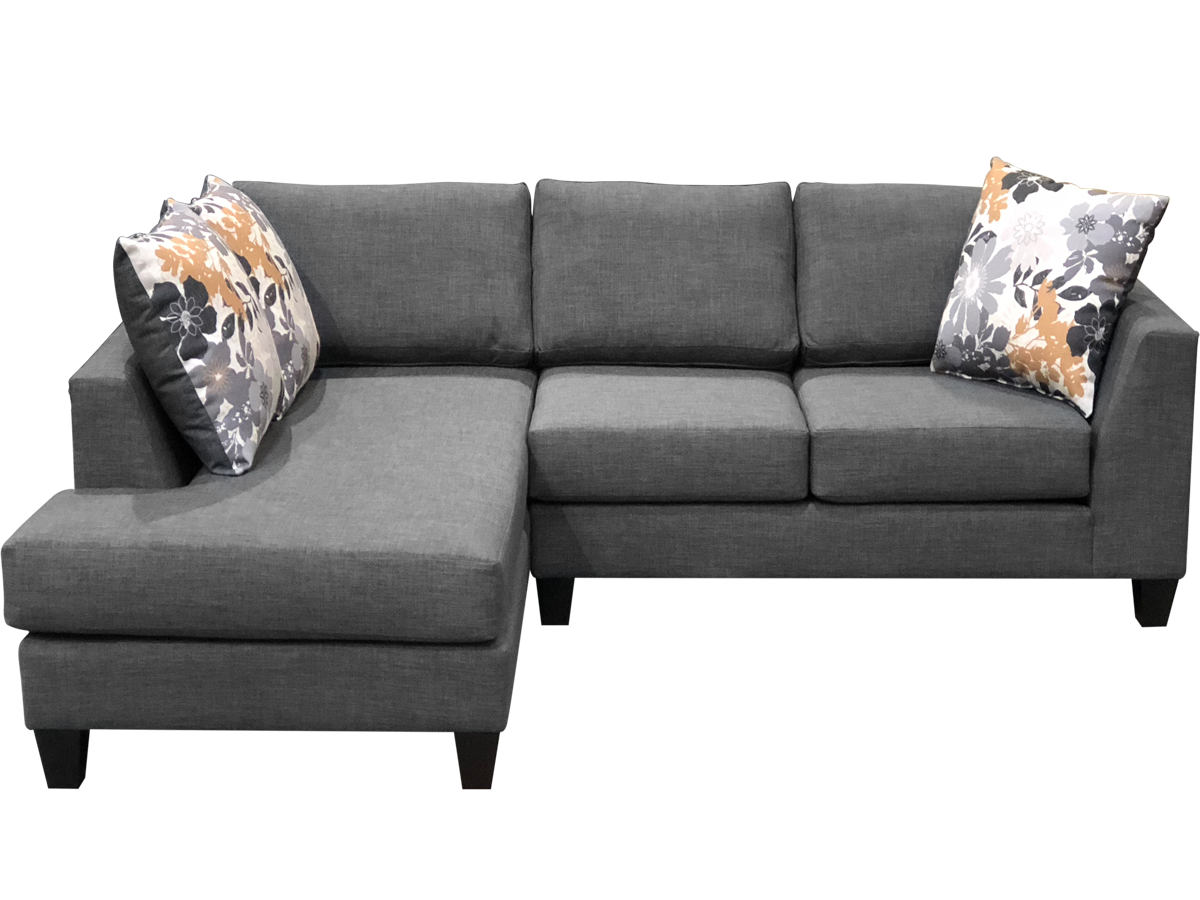 Lisa sectional elite sofa in dark grey color.