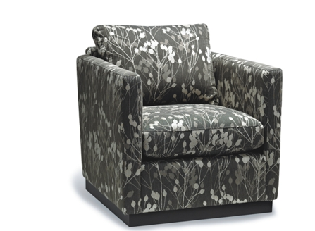Lotus armchair sofa with dark flower texture