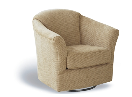 modern lucy cotton round angle armchair with metal round stand