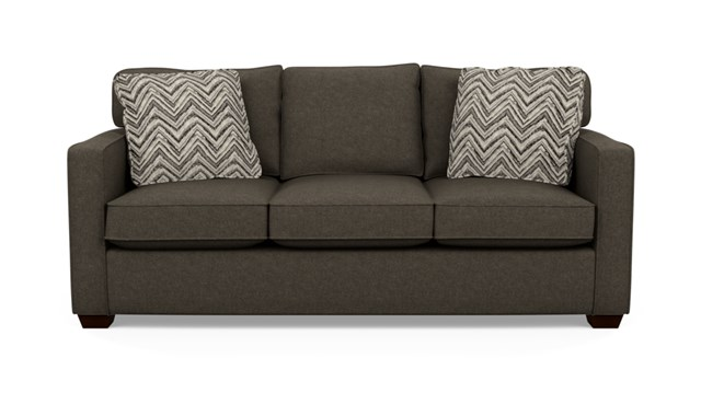 BC Brown Lyric Stylus sofa with short wood stand