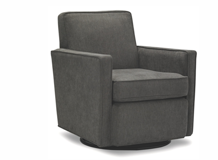 Odin dark rotatable single armchair