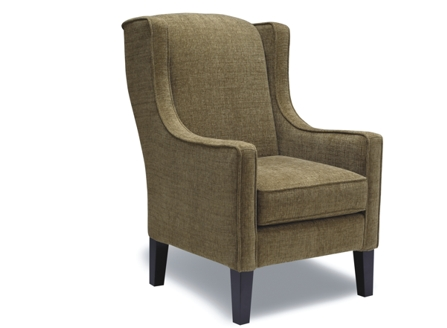 Roger fabric chair with curved arm