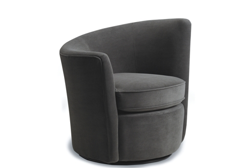 A grey high quality stylish round corner sofa