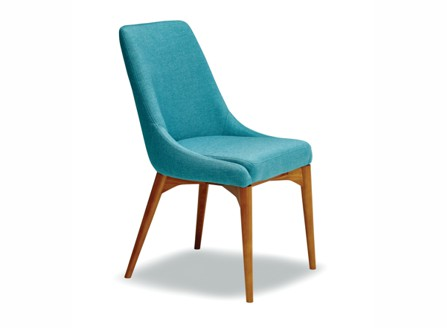 bright fashion Tiffany blue Vella chair with wood stand
