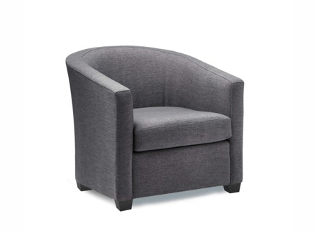 dark grey carrie round curves armchair made in BC