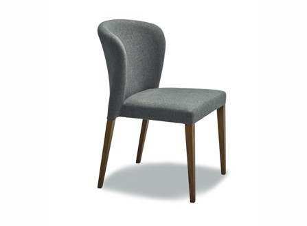 Aria modern dark grey chair with round back layback design