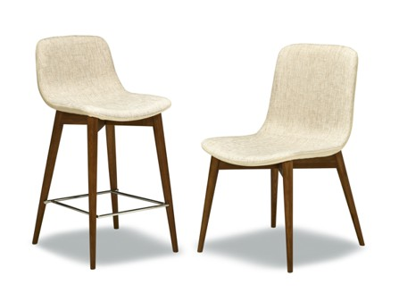 two brazil chair with one high chair for bar seat and normal dinning chair