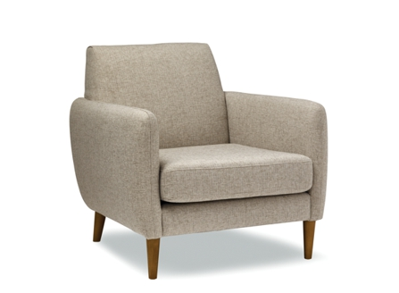 Chic short layback chair with high arm