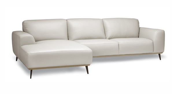 bright white three seats danika sofa section