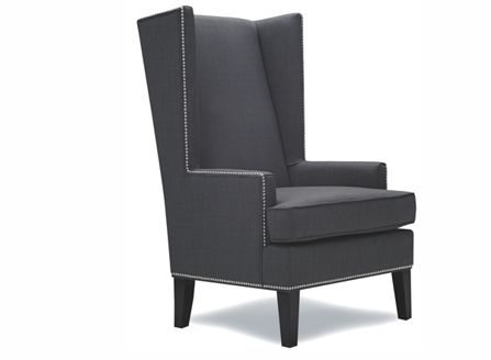 Graham dark grey chair made in Canada