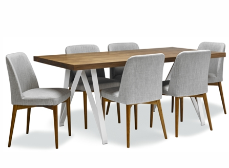 long rectangle wood table can sit with six people