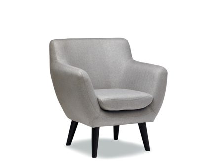 modern jude grey round seat with 4 stands