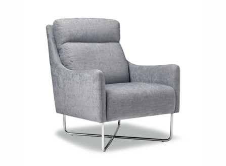 Medford grey layback chair with special stands design