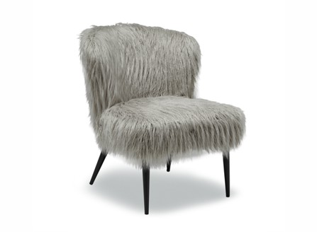 furry mop chair without arms