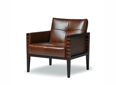 old style brown naples single armchair