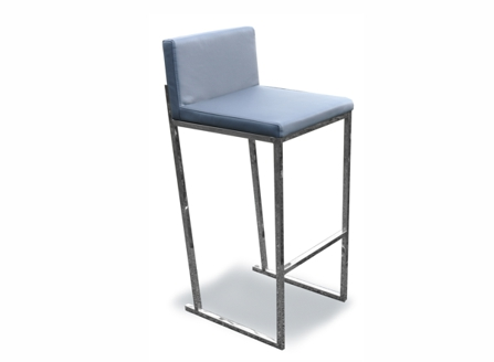 sky blue rosa counter chair with metal stands
