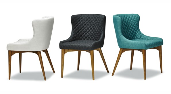 three different colors modern comfy sidra chair