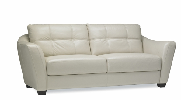 Leather Toledo two seats round back white sofa