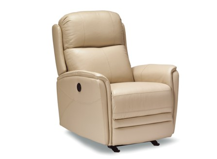 functional power recliner ventura beige leather chair