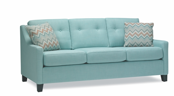 Special light green taboo sofa with textures pillows