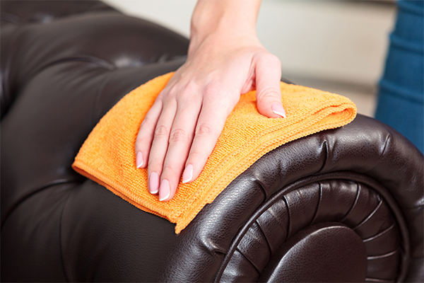 step to step to clean your home leather sofa